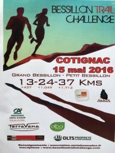 bessillon trail challenge sponsors affiche