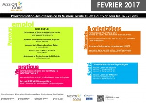 Affiche ATELIERS MISSION LOCALE - Février 2017