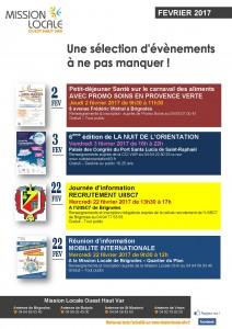 Affiche EVENEMENTS A NE PAS MANQUER - Février 2017