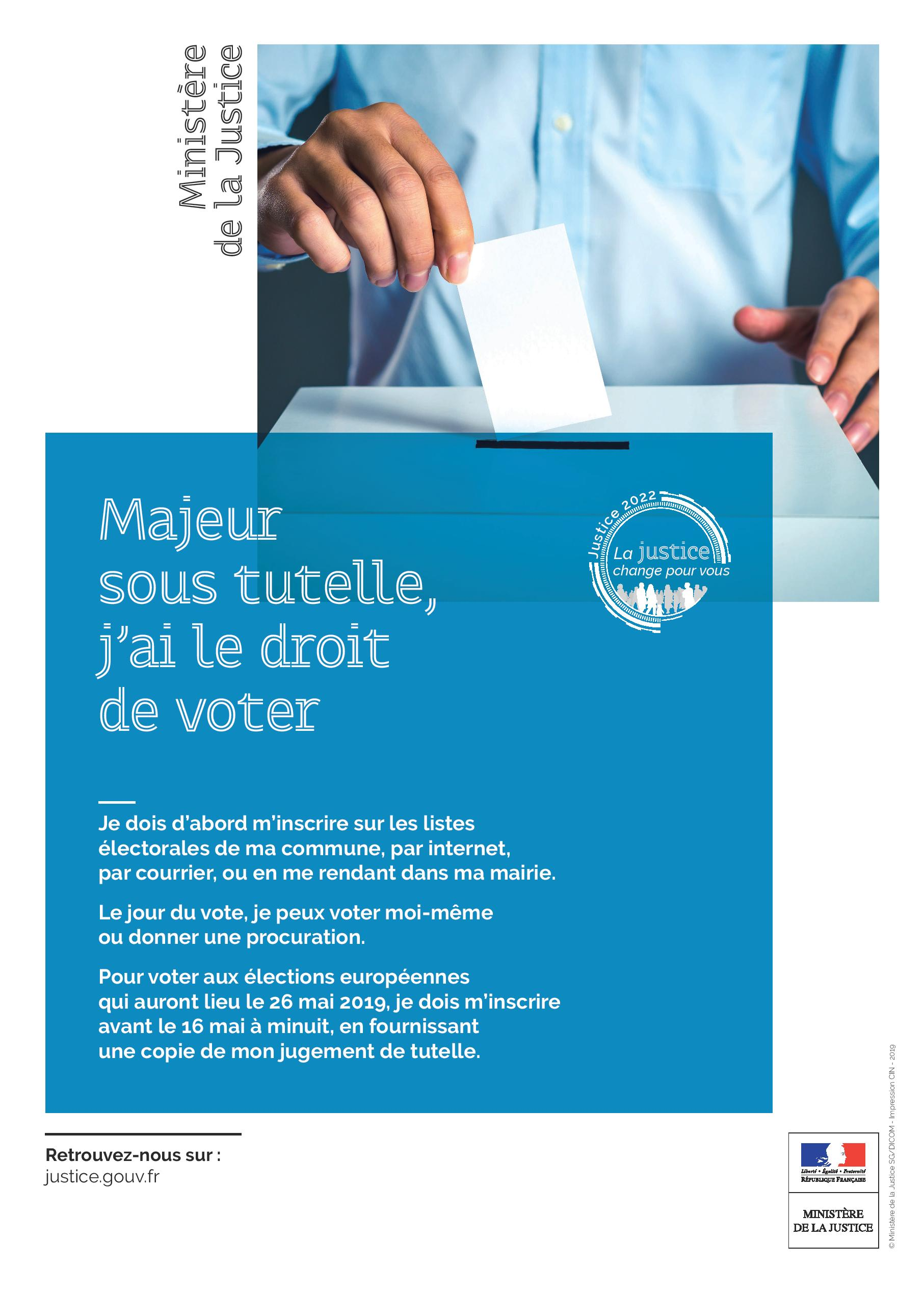 Vote des personnes sous tutelle :