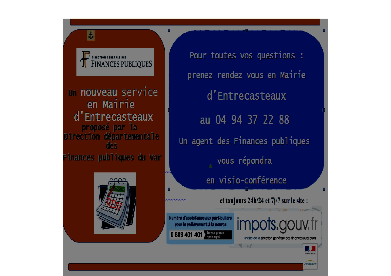 Direction Générale des Finances Publiques : Nouveau service en mairie d'Entrecasteaux.